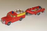 Der blev også bygget en slangetender af en Gorgi Land Rover